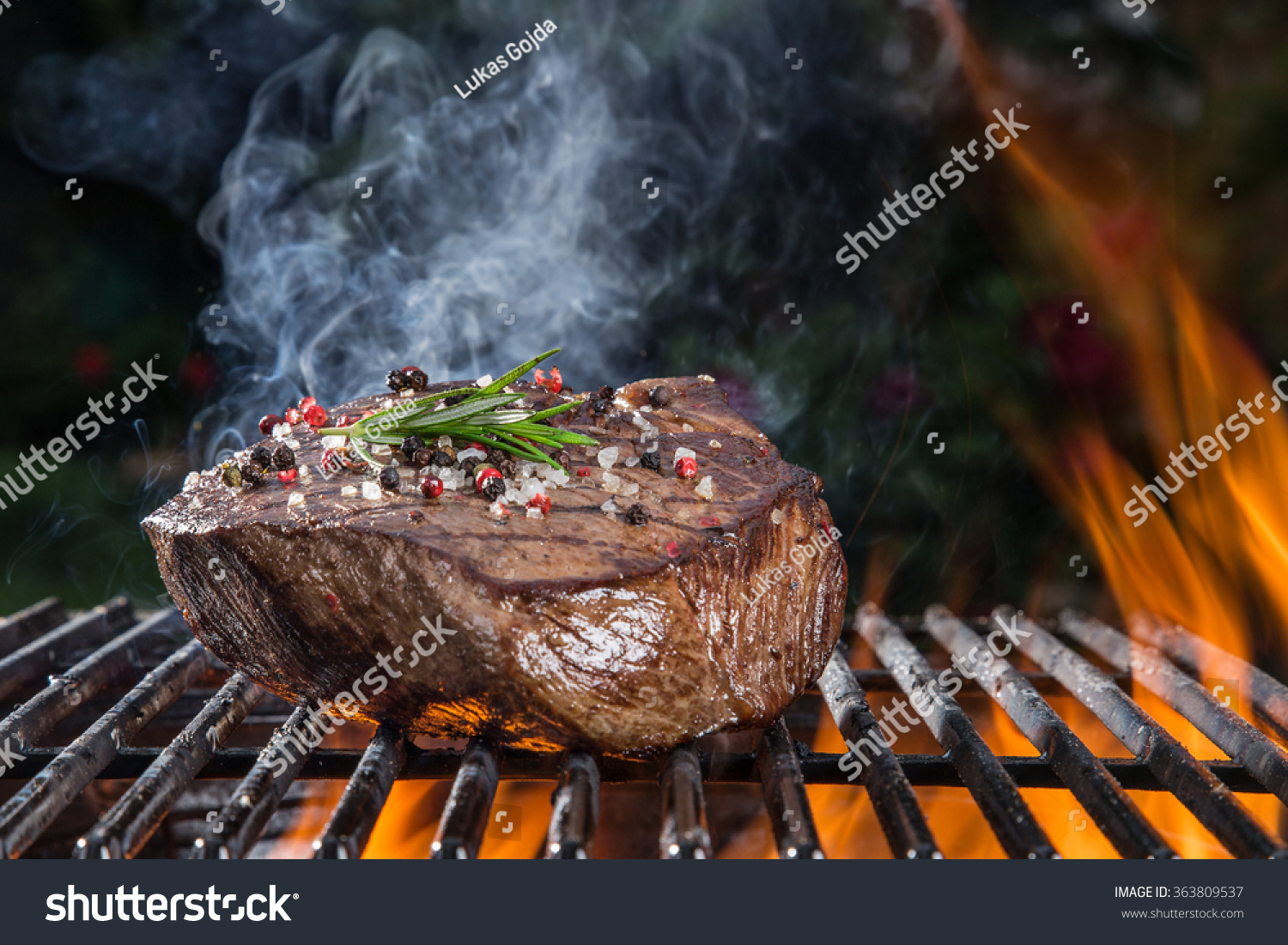 Steak op grill test